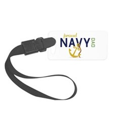Proud Navy Dad Luggage Tag