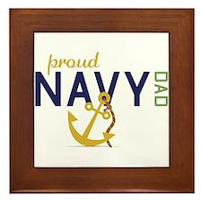 Proud Navy Dad Framed Tile