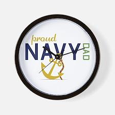 Proud Navy Dad Wall Clock