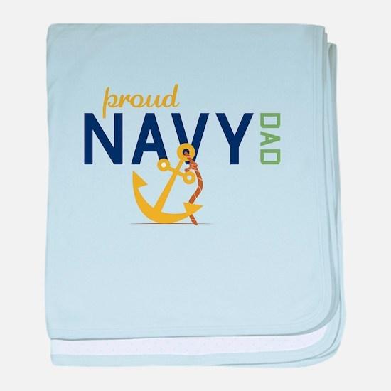 Proud Navy Dad baby blanket