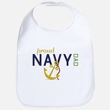 Proud Navy Dad Bib