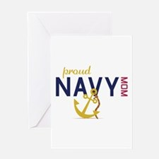 Proud navy MOM Greeting Cards