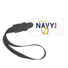 Proud navy MOM Luggage Tag