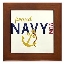 Proud navy MOM Framed Tile