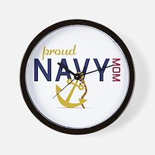 Proud navy MOM Wall Clock