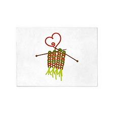 Knitting 5'x7'Area Rug