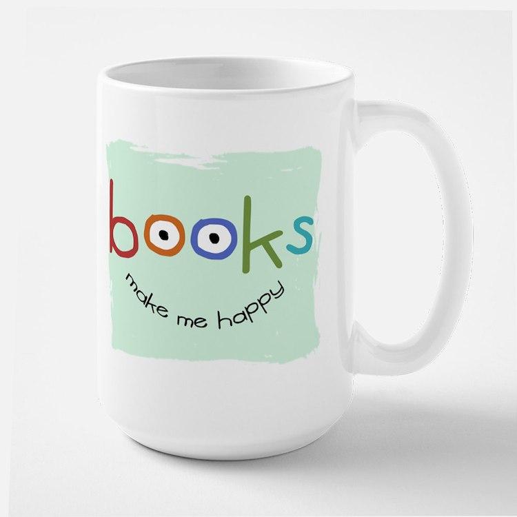 bookHAPPY_mug Mugs