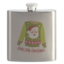 Holly Jolly Christmas Flask