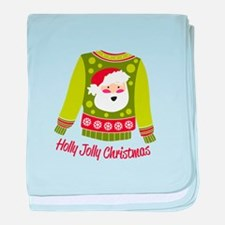 Holly Jolly Christmas baby blanket