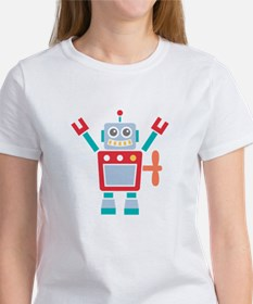 Vintage Cute Red Robot Toy T-Shirt