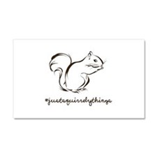 Just Squirrely Things Squirrel Car Magnet 20 x 12