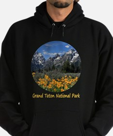 Grand Teton Mountains with Yellow Sp Hoodie