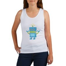 Cute and Happy Blue Robot Tank Top