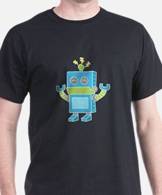 Cute and Happy Blue Robot T-Shirt