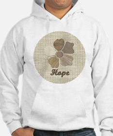 Hope Canvas Fabric Flower in Neu Hoodie