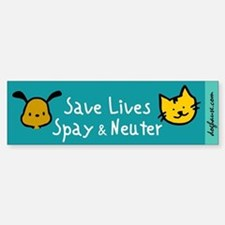 Save Lives Spay & Neuter Bumper Bumper Bumper Sticker