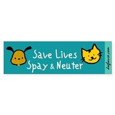Save Lives Spay & Neuter Bumper Bumper Sticker