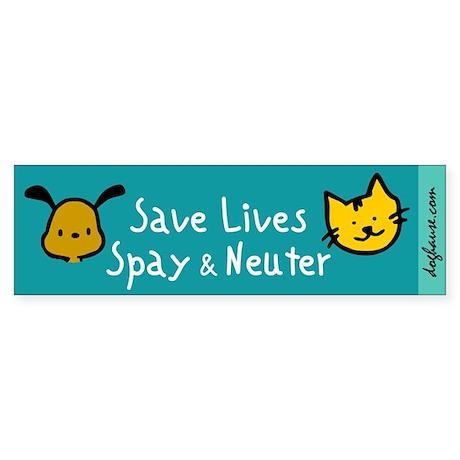 Save Lives Spay & Neuter Bumper Sticker