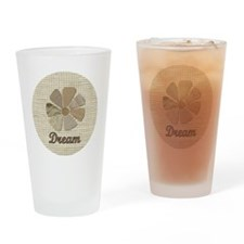 Dream Fabric Neutral Colored Inspir Drinking Glass
