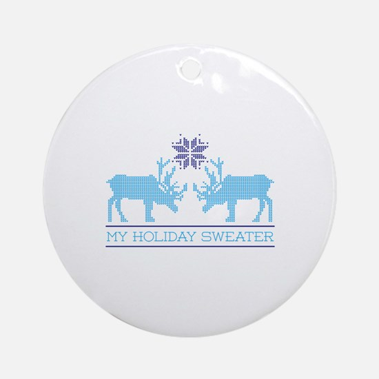 My Holiday Sweater Ornament (Round)