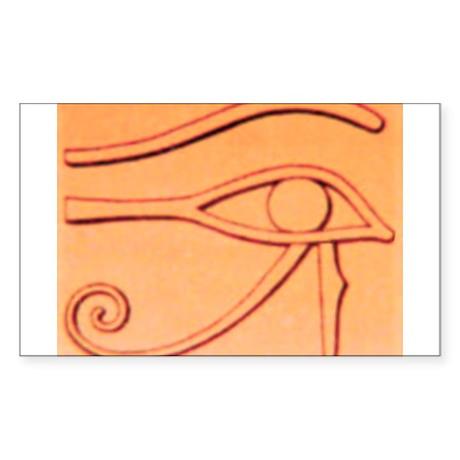 Right Eye Of Horus Rectangle Sticker