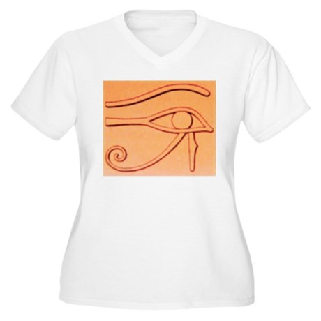 Right Eye Of Horus Women's Plus Size V-Neck T-Shir