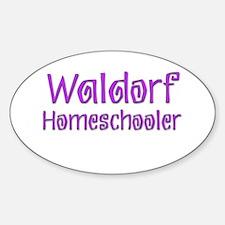 Waldorf Homeschooler 1 Oval Decal