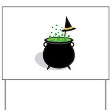 Brewing Cauldron Yard Sign