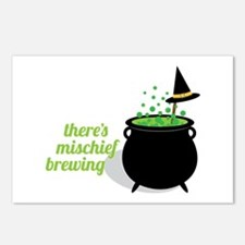 Theres Mischief Brewing Postcards (Package of 8)
