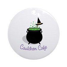 Cauldron Cafe Ornament (Round)