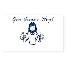 Jesus Hug Rectangle Decal