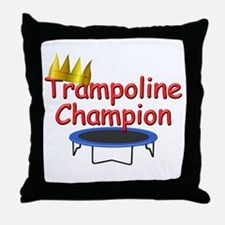 Tramp Champ w/date Throw Pillow