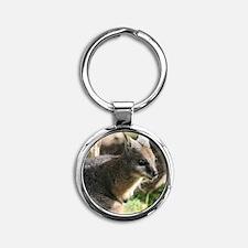 A Darned Cute Wallaby in Australia Round Keychain