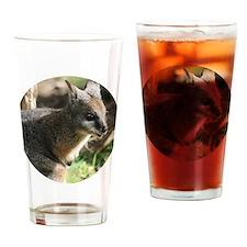 A Darned Cute Wallaby in Australia Drinking Glass