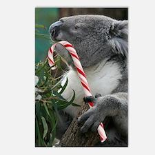 Koala Christmas Aussie St Postcards (Package of 8)
