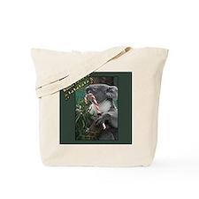Australian Christmas Koala with Candy Can Tote Bag