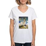 Umbrella / Tri Cavalier Women's V-Neck T-Shirt