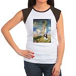 Umbrella / Tri Cavalier Women's Cap Sleeve T-Shirt