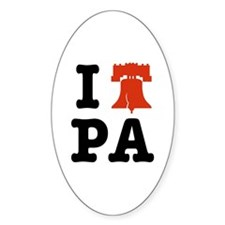 I Heart PA Oval Decal