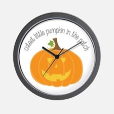 Cutest in the Patch Wall Clock