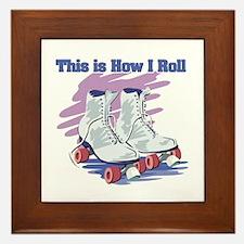 How I Roll (Roller Skates) Framed Tile