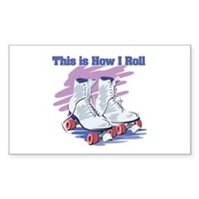 How I Roll (Roller Skates) Rectangle Decal