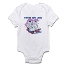 How I Roll (Roller Skates) Infant Bodysuit