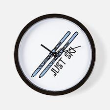 Just Ski Wall Clock
