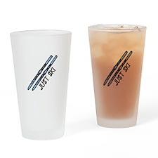 Just Ski Drinking Glass