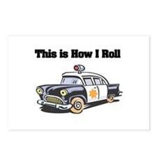 How I Roll (Police Car) Postcards (Package of 8)