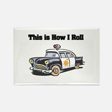 How I Roll (Police Car) Rectangle Magnet
