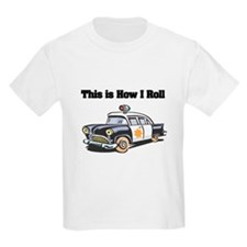How I Roll (Police Car) T-Shirt