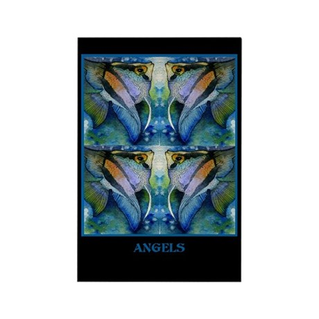 Tropical Fish-Angel Rectangle Magnet