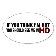 HD HOT Oval Decal